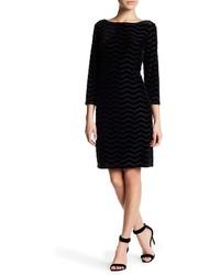 Eliza J 34 Sleeve Velvet Shift Dress