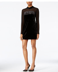 BCBGeneration Velvet Mock Neck Shift Dress