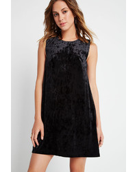 BCBGeneration Velvet Shift Dress Black