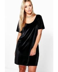 Boohoo Plus Ariana Velvet Shift Dress