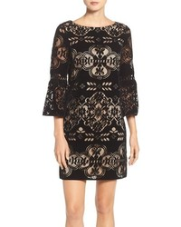 Eliza J Burnout Velvet Shift Dress