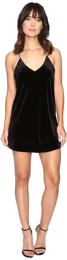 Brigitte Bailey Kameron Spaghetti Strap Velvet Dress Dress