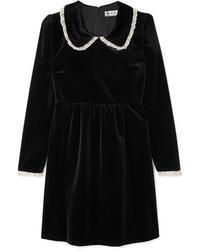 Paul & Joe Med Velvet Mini Dress