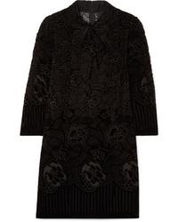 Anna Sui Rose Basket Devor Velvet Mini Dress