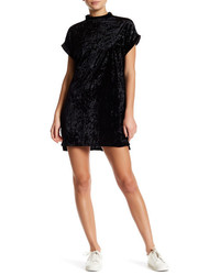 Cotton Emporium Short Sleeve Velvet Shift Dress