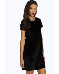Boohoo Tall Natalia Velvet Shift Dress