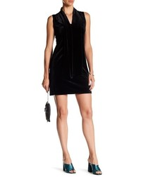 Laundry by Shelli Segal Tie Neck Velvet Shift Dress