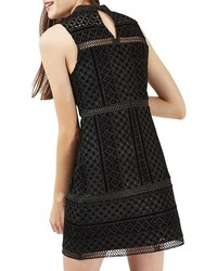 Topshop Cutout Velvet Shift Dress