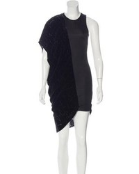 Alexander Wang Velvet Trimmed Shift Dress