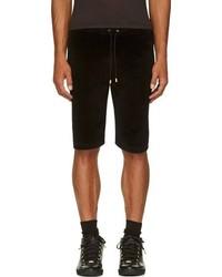 Black logo appliqu velvet shorts medium 79730