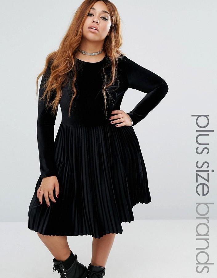 $68, Alice & You Velvet Skater Dress