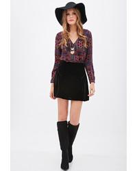 351aad820c ... Forever 21 Contemporary Fluted Velvet Skirt