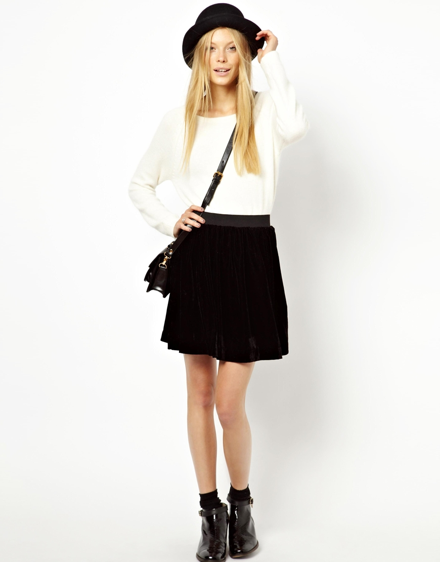 8f90567c8a Monki Velvet Gathered Mini Skirt, $26 | Asos | Lookastic.com