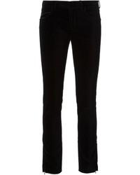 Black Velvet Skinny Jeans