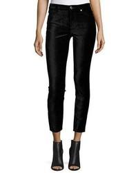 7 For All Mankind The Ankle Skinny Velvet Jeans Black