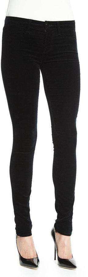 4da71969f0ec1 ... J Brand 815 Mid Rise Super Skinny Velvet Jeans Black ...