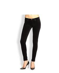 AG Adriano Goldschmied The Legging Velvet Skinny Jeans Super Black Velvet