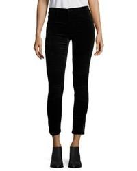 J Brand Tori Velvet Midrise Skinny Moto Jeans