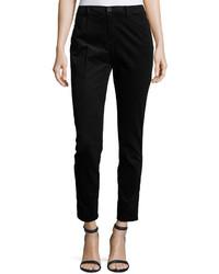 Neiman Marcus Twiggy Skinny Velvet Jeans Black