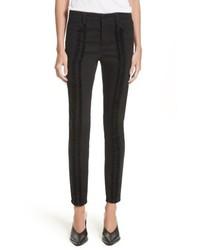 Stella McCartney Velvet Trim High Waist Skinny Jeans