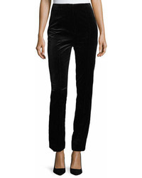 Diane von Furstenberg High Waist Skinny Leg Velvet Pants