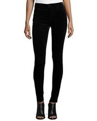 Mid rise super skinny velvet pants black medium 3741351