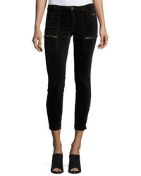 Park skinny velvet pants black medium 4986078
