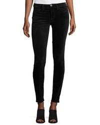 The ankle skinny velvet pants washed black medium 1024772