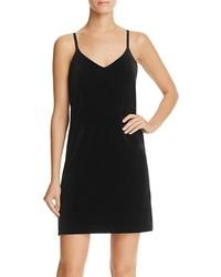 Aqua Velvet Slip Dress 100%