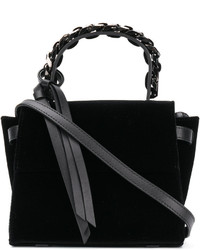 Miu Miu Miu Miu - School Velvet And Patent-leather Tote - Black ... 8a0271a80d