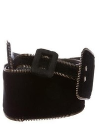 Saint Laurent Yves Velvet Waist Belt
