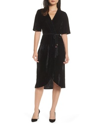 Fraiche by J Velvet Faux Wrap Dress