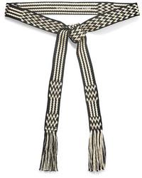 Etoile Isabel Marant Toile Isabel Marant Carpet Woven Belt Black