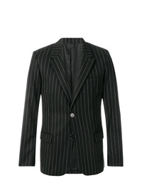Black Vertical Striped Blazer