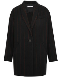 Pinstriped wool blend felt blazer black medium 5219717