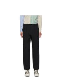 Comme des Garcons Homme Deux Black Serge Stripe Trousers