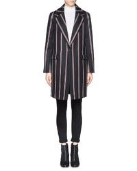 Nobrand Iris Regital Stripe Boyfriend Coat
