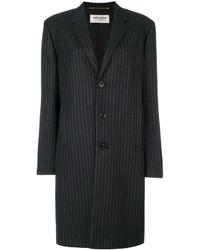 Saint Laurent Pinstripe Mid Length Coat