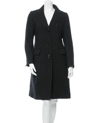 Philosophy di Alberta Ferretti Pinstripe Wool Coat