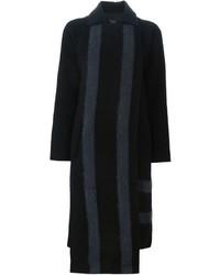 Tibi Front Panel Striped Coat