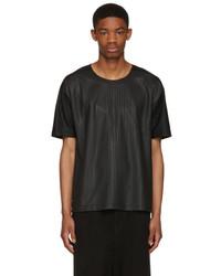 Issey Miyake Black Textured T Shirt