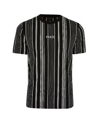 River Island Embroidered Paris Stripe T Shirt