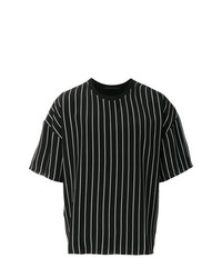 Haider Ackermann Striped Half Sleeve T Shirt