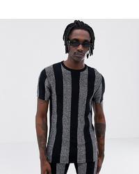 ASOS DESIGN X Laquan Smith Skinny Fit Glitter Stripe T Shirt