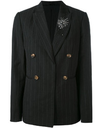 Brunello Cucinelli Pinstripe Double Breasted Blazer