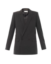 Saint Laurent Pinstripe Wool Blazer