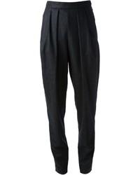 Black Vertical Striped Dress Pants
