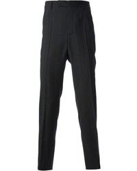 Black Vertical Striped Dress Pants