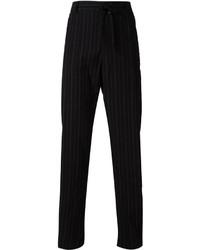 Ann Demeulemeester Grise Pinstripe Drawstring Trousers
