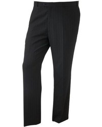 Big tall striped black suit pants medium 59523